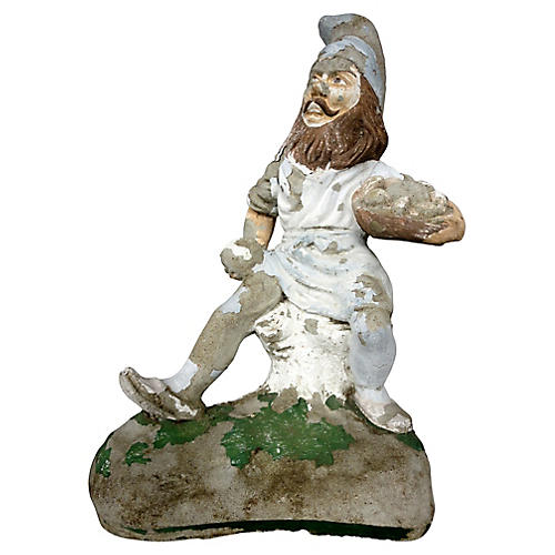 Antique Concrete Garden Gnome