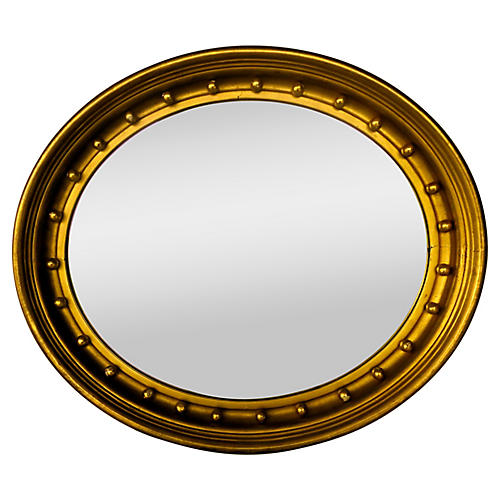 French Federal Gilded Oval Mirror