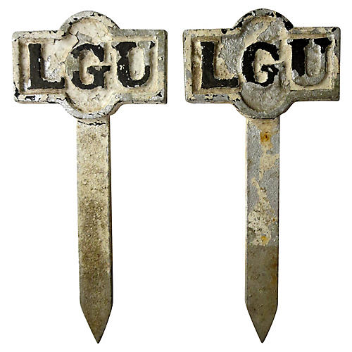 Antique English L.G.U. Stakes, S/2