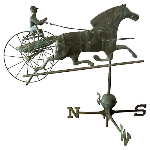 Antique Horse & Jockey Weathervane