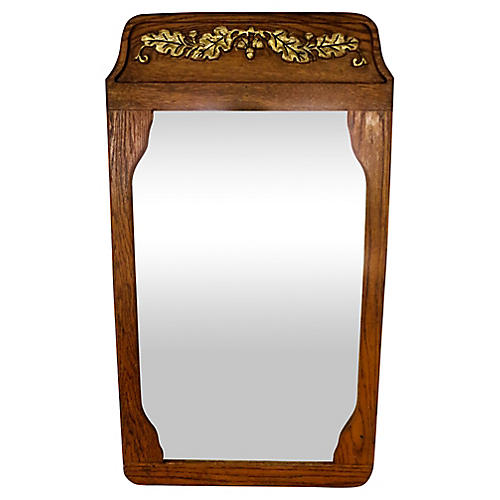 French Oak Mirror