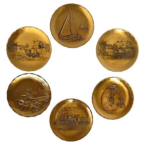 Bronze Coasters, S/7