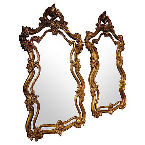 Italian Gilt Mirrors, Pair