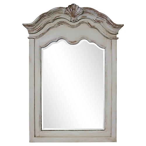 French Painted Shell Mirror