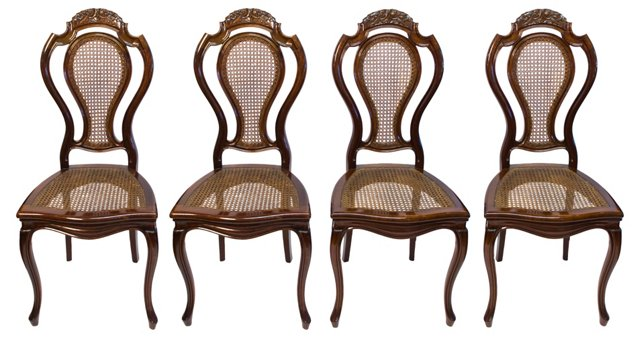 German Victorian-Style Chairs, S/4