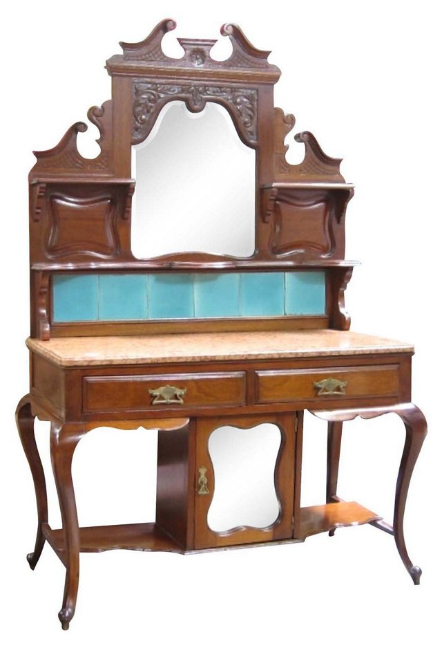 French Art Nouveau-Style Vanity