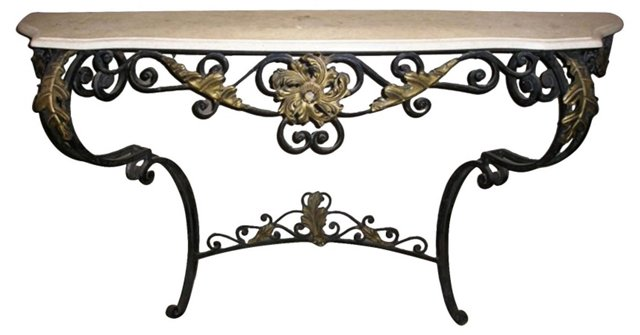 1930s French Iron Console