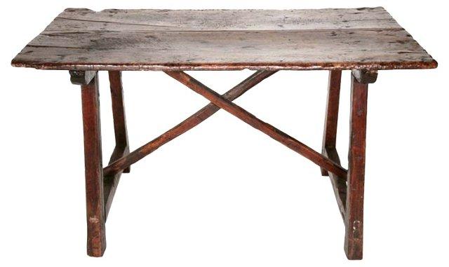 17th-C. Italian Rustic Walnut Table