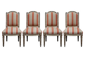 19th-C. Italian Chairs, Set of 4