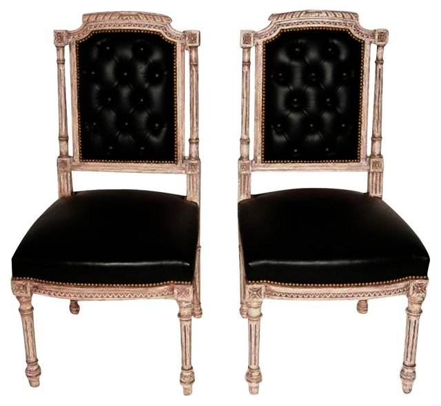 1920s Louis XVI-Style Side Chairs, Pair
