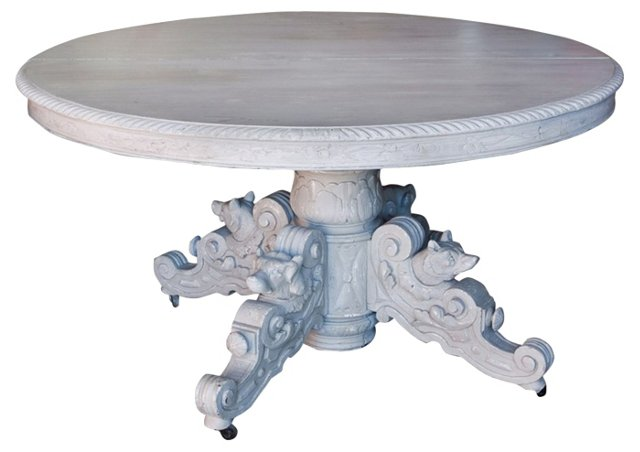 Early-20th-C. German Oakwood Table