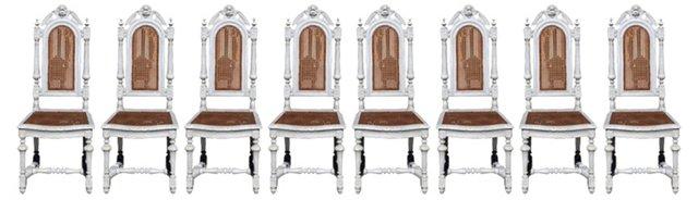 German Dinner Chairs, Set of 8