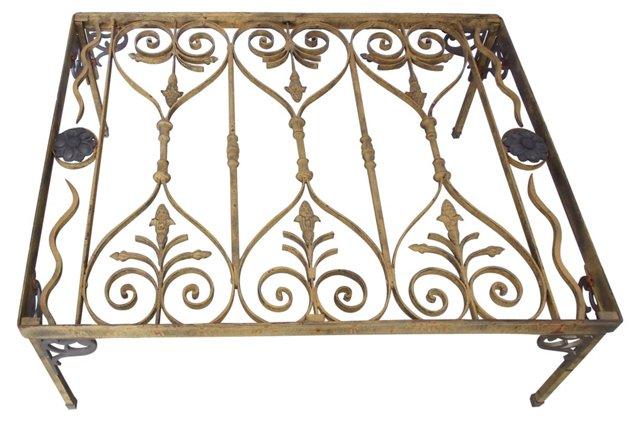 Art Nouveau-Style Iron Coffee Table