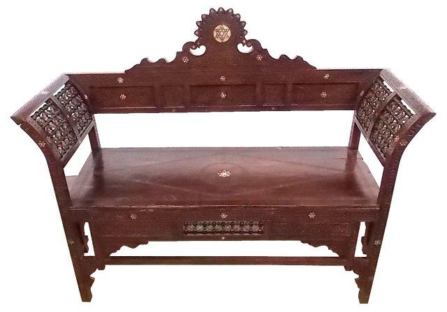 Spanish Arabesque Wood Bench