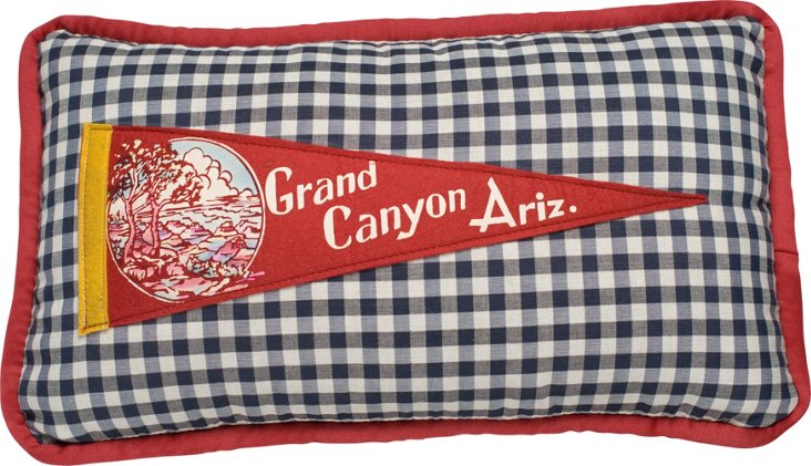 Grand Canyon Pennant Pillow, 1950