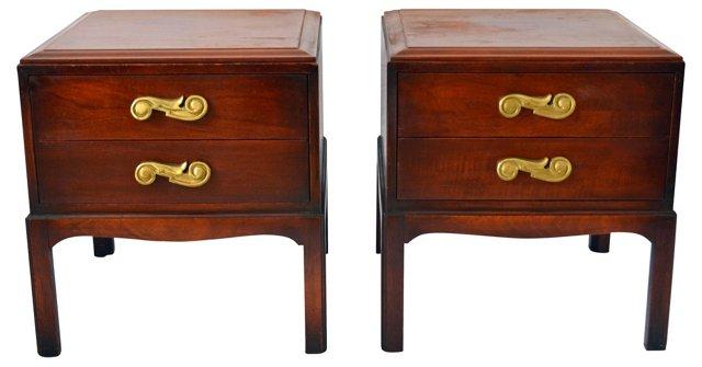 Regency-Style Side Tables, Pair