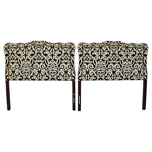 Midcentury Upholstered Headboards, S/2
