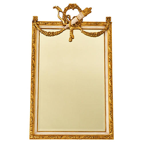 French Louis XVI-Style Beveled Mirror