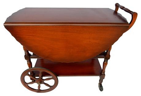 Cherrywood Bar Cart