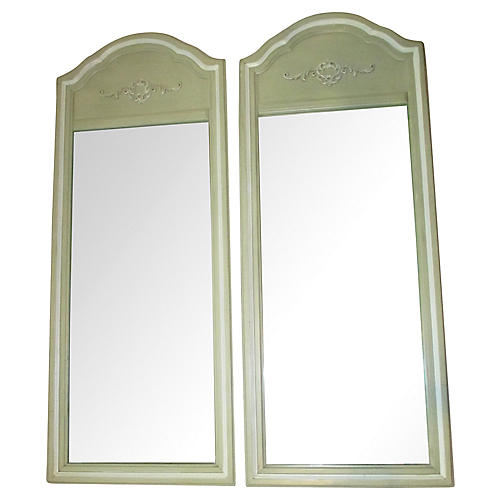 Pair of Celery Green Mirrors