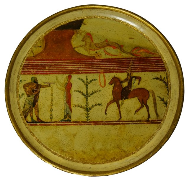 Roman-Scene Florentine Tray