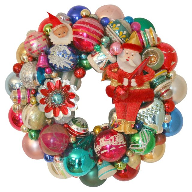 Holiday Wreath w/          Ornaments