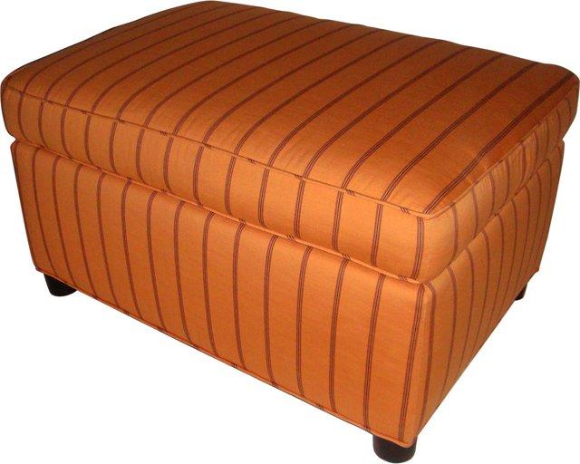 Midcentury Upholstered Ottoman