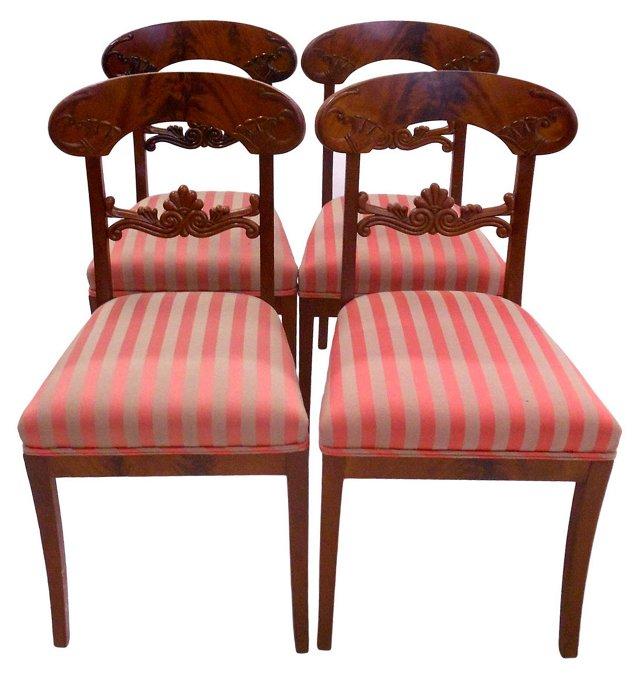 Biedermeier Chairs, S/4