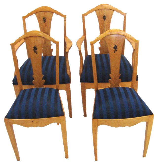 Jugendstil-Style  Dining Chairs, S/4