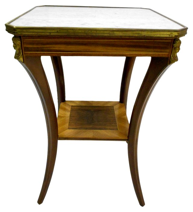Duncan Phyfe-Style Square Side Table