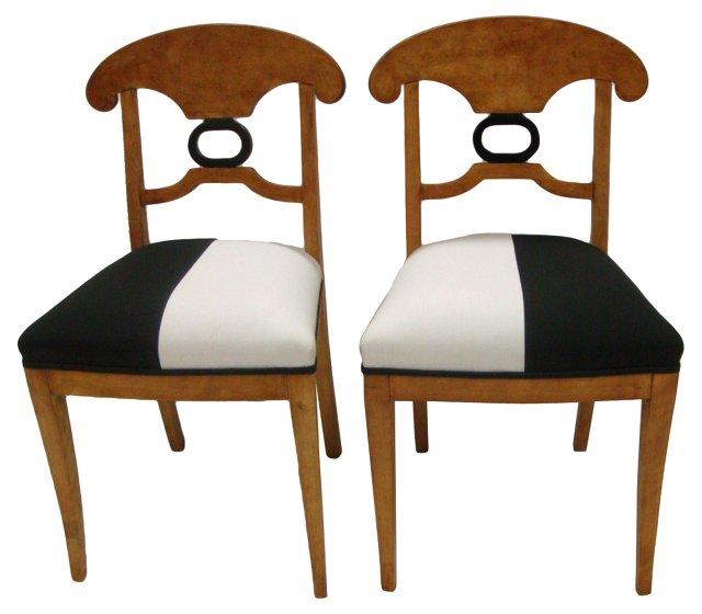 Swedish Biedermeier Chairs, Pair