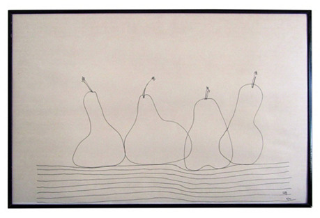 Simply Charming 4 Pears, Pen/Ink Drawing