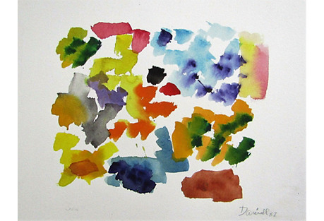 Colorful Abstract Original Watercolor