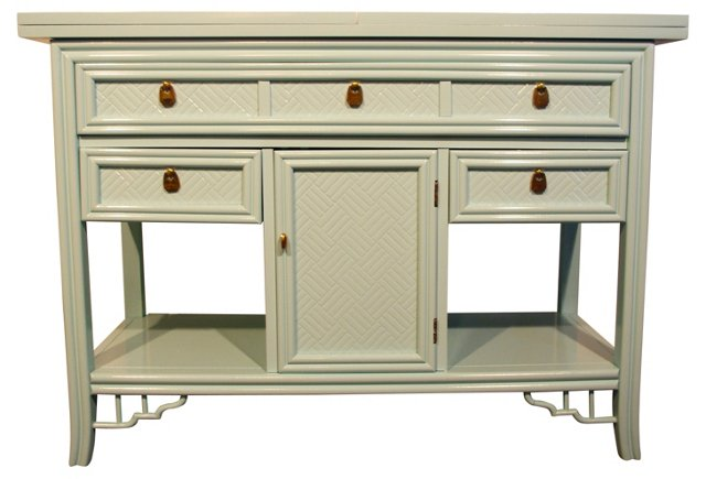 Lagoon Blue Console by Thomasville