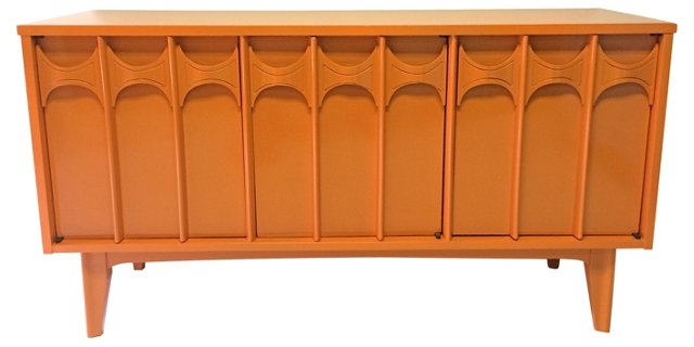 Orange Lacquered    Credenza