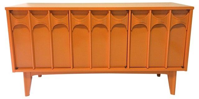 Orange Lacquered    Credenza