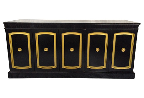 Black Lacquered Credenza by Drexel