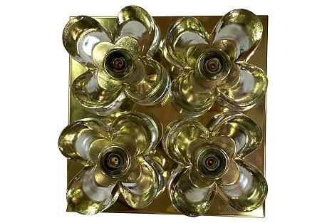 Murano Glass Flushmount by Mazzega