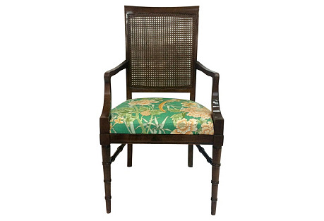 Faux-Bamboo Armchair