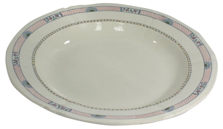 Round Gien Serving Plate