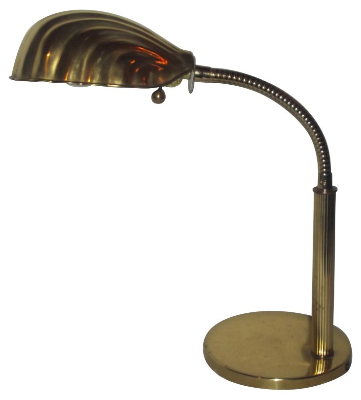 Art Deco Clamshell Desk Lamp