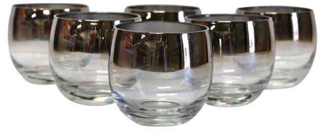 Silver Ombré Lowballs, Set of 6