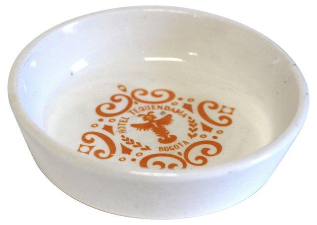 Hotel Tequendama Ceramic Ashtray