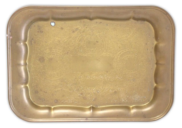 Rectangular Brass Etched Tray