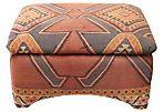 Kilim-Wrapped Storage Ottoman