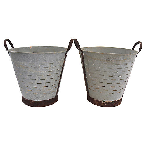 Turkish Olive Baskets, Pair