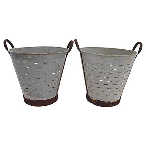 Turkish Olive Baskets, Pair