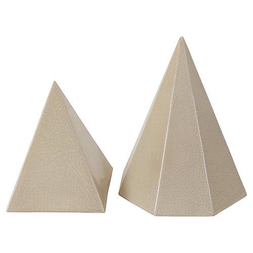 Ceramic Pyramids, Pair