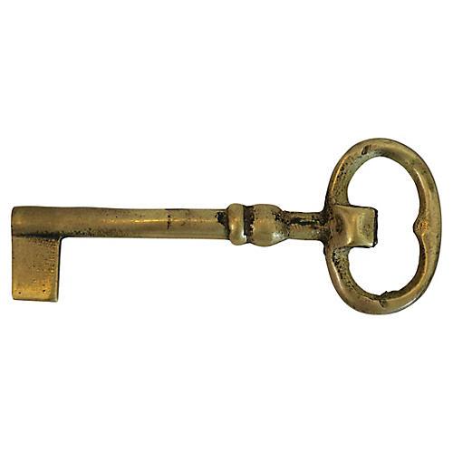 Brass Skeleton Key Bottle Opener