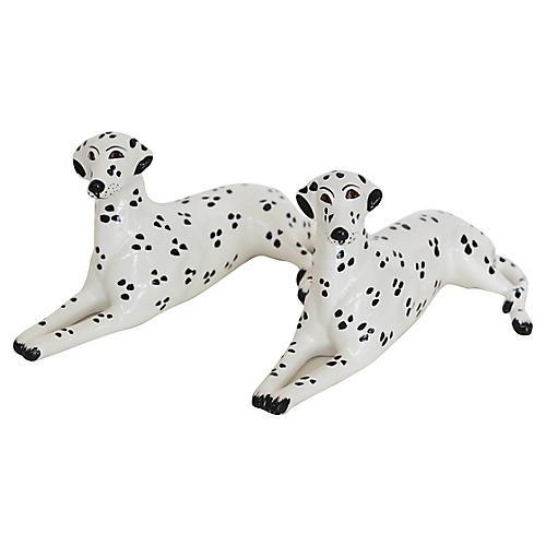Italian Porcelain Dalmatians, Pair